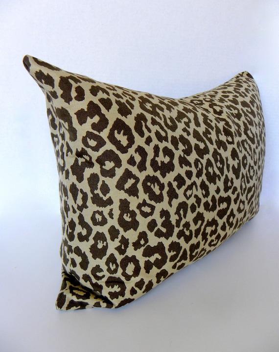 Animal Print Lumbar Pillows : Leopard print pillow 14x 20 Designer pillow by studioei8ht