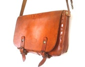 Vintage Leather Bag Brown Italian Il Duca Messenger Saddle bag