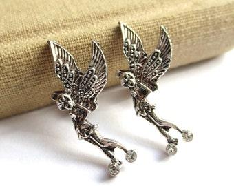 CLEARANCE - Fairy Stud Earrings with Rhinestones