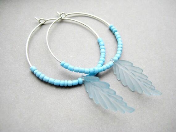 SKY - Beaded Hoop Earrings