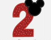 Mouse Ear  Numbers 1-9...Embroidery Applique Design...Two sizes for multiple hoops...Item1201.