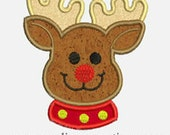 Rudolph Reindeer...Embroidery Applique Design...Three sizes for multiple hoops...Item1380.