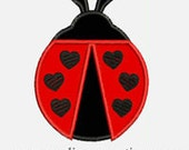 Lady Bug Hearts...Embroidery Applique Design...Three sizes for multiple hoops...Item1499.
