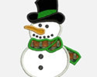 Simple Snowman...Embroidery Applique Design...Three sizes for multiple hoops...Item1058...INSTANT DOWNLOAD
