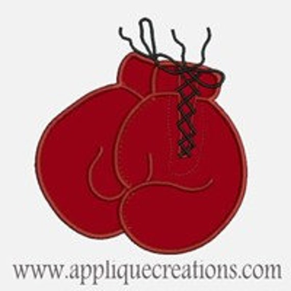 Boxing Gloves...Embroidery Applique Design...Three sizes for multiple hoops...Item1078.