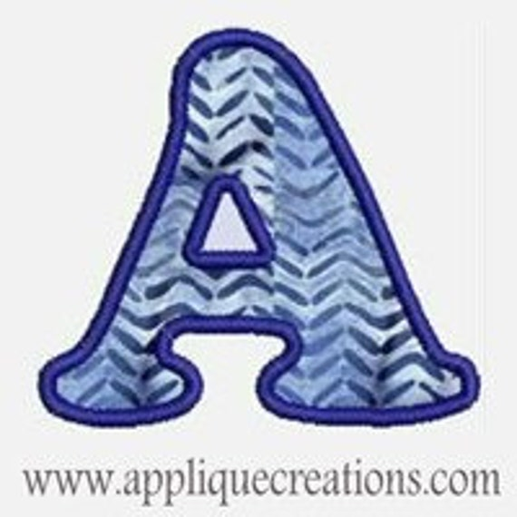 Alpha A-Z...Embroidery Applique Design 27...Three sizes for multiple hoops...Item1088.