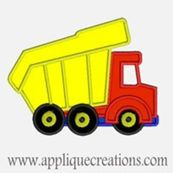 Dump Truck...Embroidery Applique Design...Three sizes for multiple hoops...Item1222.