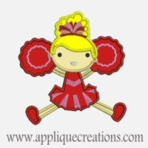 Cheer Leader 2...Embroidery Applique Design...Three sizes for multiple hoops...Item1189.
