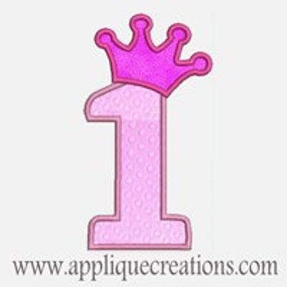 Princess Numbers 1-9...Embroidery Applique Design...Three sizes for multiple hoops...Item1017.