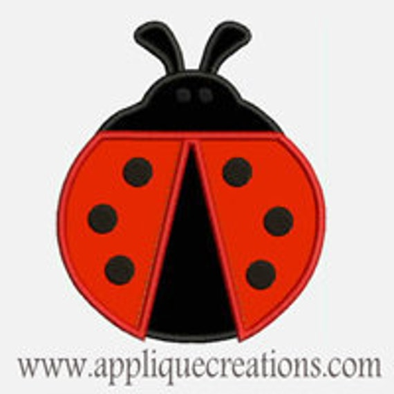 Lady Bug...Embroidery Applique Design...Three sizes for multiple hoops...Item1248.