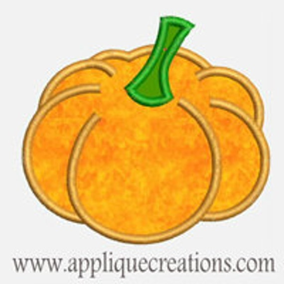 Pumpkin ...Embroidery Applique Design...Three sizes for multiple hoops...Item1271.