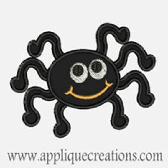 Happy Spider...Embroidery Applique Design...Three sizes for multiple hoops...Item1313.