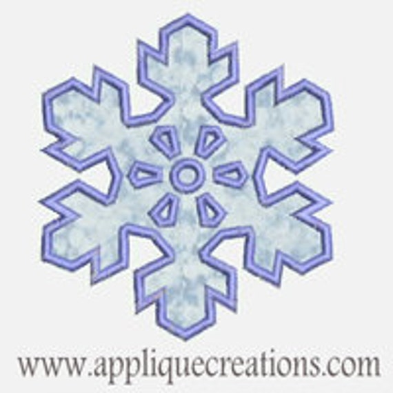 Snowflake...Embroidery Applique Design...Three sizes for multiple hoops...Item1389.