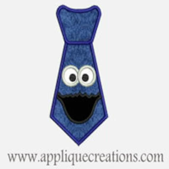Cookie Face Tie...Embroidery Applique Design...Three sizes for multiple hoops...Item1459.