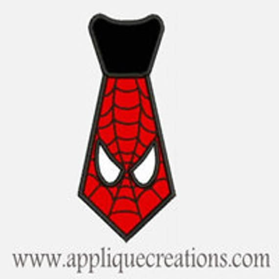 Spider Tie...Embroidery Applique Design...Three sizes for multiple hoops...Item1464.