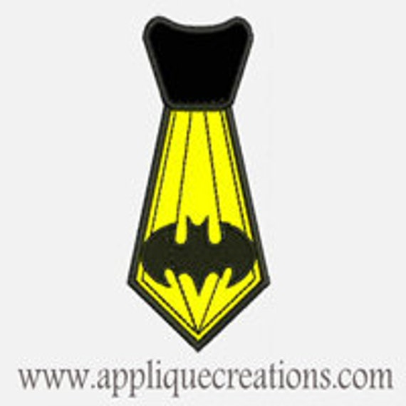 Bat Tie...Embroidery Applique Design...Three sizes for multiple hoops...Item1488.