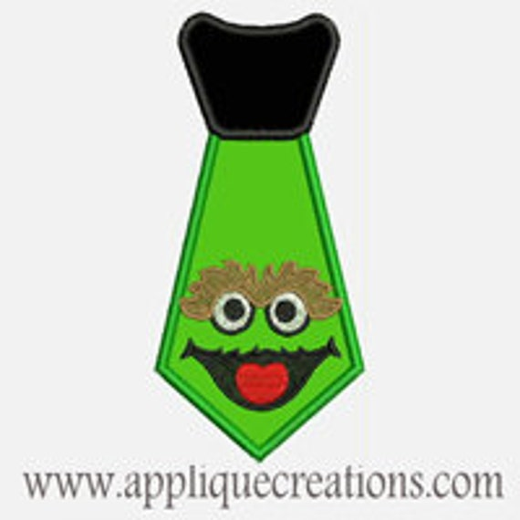 Grouchy Tie...Embroidery Applique Design...Three sizes for multiple hoops...Item1524.