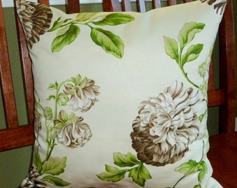 Premium Decorative Accent Pillow Covers - One18 Inch Brown and Green