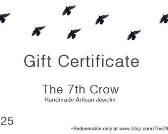 Gift Certificate - 25 dollars for 20 dollars