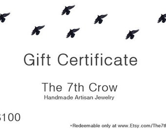 Gift Certificate - 100 dollars for 95 dollars