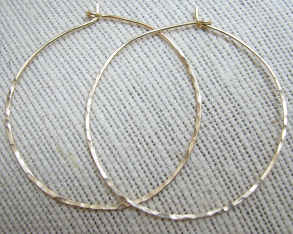 Hammered gold/silver/copper/rose gold Hoop Earrings