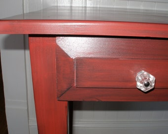 Writing desk, computer desk, red, wooden, FREE SHIPPING