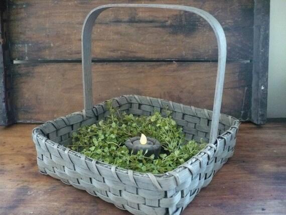 Primitive Gathering Basket Handwoven