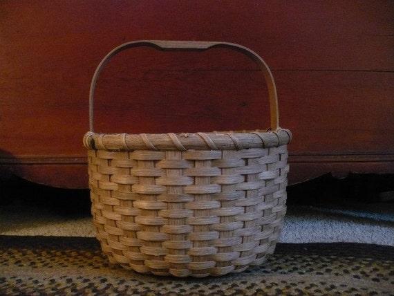 Primitive Half Bushel Basket Handwoven