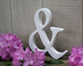 """9"""" AMPERSAND Wood Sign-Hand-cut and Hand-painted Chic Decor"""
