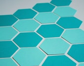 Hexagon Die Cuts - 35 large paper embellishments - Die cut for card making, scrapbooking, confetti, party supply