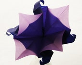 Origami Moon Flower - A single translucent, elegant origami flower with radiant vellum paper - Great as gift wrapping accent