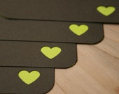 Heart Flat Note Card Set - Stationery Set of 4 Handmade Cards and Envelopes - Eco Friendly Cards