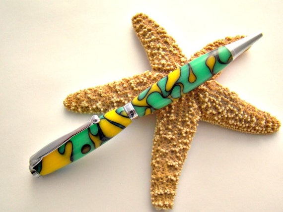 Handcrafted Gecko Acrylic Ink Pen Free Shipping