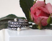 Stamped Ring Fine Silver