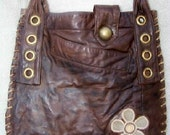 ON HOLD for Cindy Valles- The Eric Clapton Bag -- Gorgeous, Unique, Bohemian, Eco-Friendly, Soft Salvaged Leather (Handmade, One-of-a-kind)
