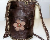 The Drew Barrymore Bag - Glamorous, Cool, Bohemian Salvaged Leather (Handmade, Ecofriendly, One of a kind)