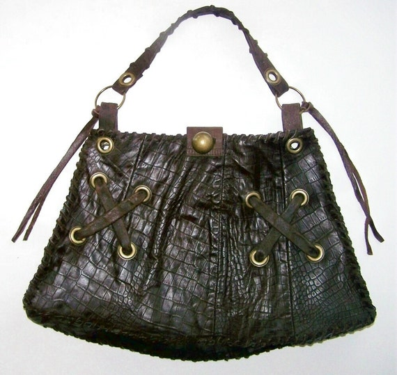 ON HOLD for J Schell - The Jennifer Lopez Bag - Glalmorous, Sophisticated, Stunning Salvaged Leather (Handmade, Ecofriendly, One of a Kind)