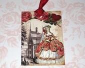 Vintage Marie Antoinette Valentine Gift Tags Love Wedding Ooh la la Paris