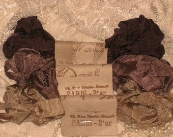Hand Crinkled Seam Binding Package French Cafe ECS