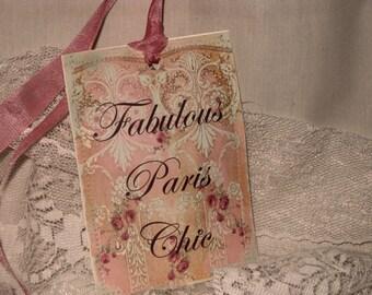 Paper Sachet Gift Tags Paris Chic Collection (PSGT005) Fabulous Paris Chic ECS