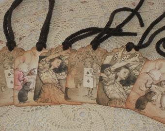 Summer Sale Alice in Wonderland Vintage Gift Tags