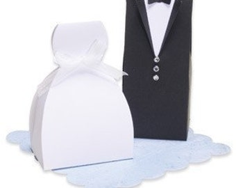 Bride and Groom Wedding Favor Box Set