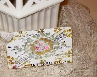 Vintage French Script and Floral Gift Tags Paris Apartment Ooh La La