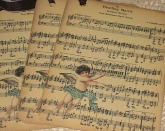 Bridal Chorus Sheet Music by R. Wagner Tag Set of 4