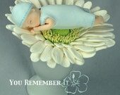 Gerbera flower with baby boy Gift for baby shower Ready To Ship