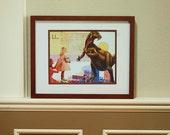 Collage Art Print - Dino Birthday 8x10