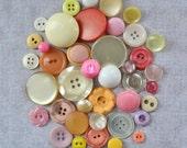 Vintage Button Lot - Pink Lemonade Mix 621