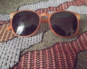 SUMMER SALE Retro Rusted Orange Colored Sunglasses