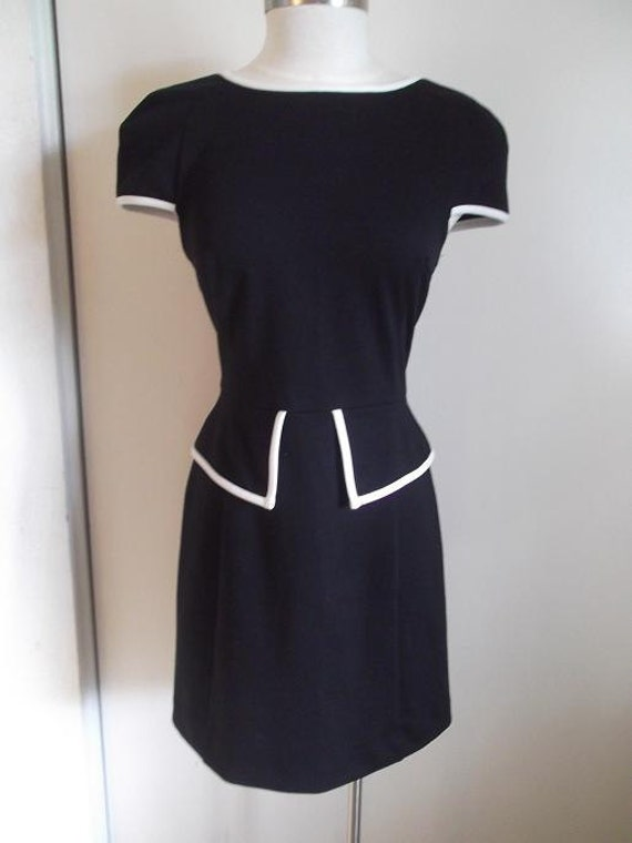 Black and White Old Fashioned 50s Sailor Dress Size M