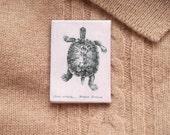 tortoise brooch tortoise pin